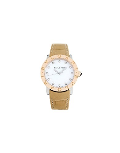 Bvlgari BVLGARI White Mother of Pearl Diamond Dial 33mm Automatic Ladies Watch 101893