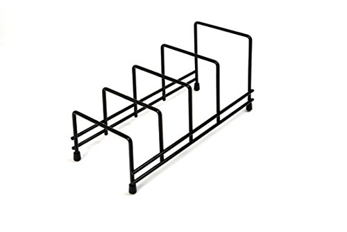 Delfinware Plate Storage Rack, Black 2625BK