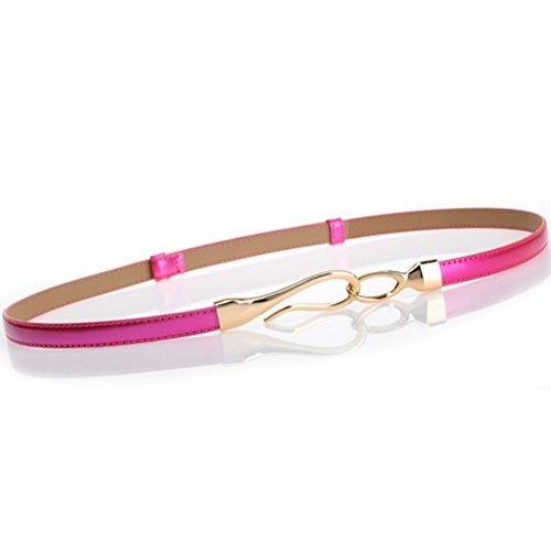 Nanxson(TM) Women's Solid Skinny Leather Buckle Belt Multi-colors PDW0002 - Womens Multi Buckle