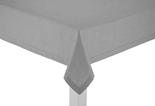 100% Linen Hemstitch Table Cloth - Size 60x90 Charcoal - Hand Crafted and Hand Stitched Table Cloth with Hemstitch detailing. The pure Linen fabric works well in both casual and formal settings