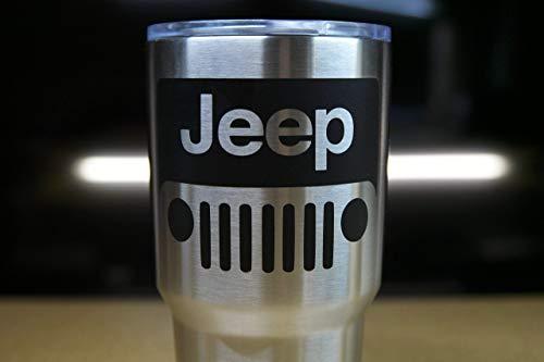 Jeep Wrangler Lifestyle Decal Vinyl Sticker for Car Windows, Laptops, Gear, etc.