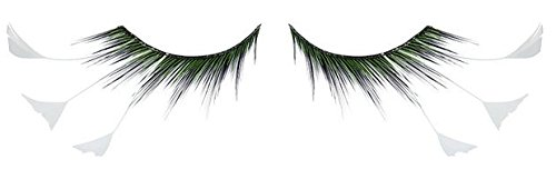 Zinkcolor White Feather Tip False Eyelashes F157 Dance Halloween Costume]()