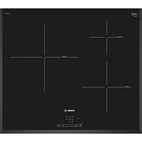 Bosch Serie 4 PIJ651BB1E Integrado Con - Placa (Integrado, Con placa de inducción, Vidrio y cerámica, Negro, LED, Tocar)