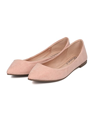 Breckelles Women Toe Balletto Piatto - Casual, Ufficio, Scuola - Slip On Flat - Gh13 By Blush