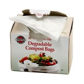 Svitlife Bio-Degradable Compost Bags, 50 Pieces Gardening Lawn Leaf Bags Portable Yard