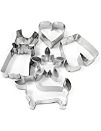 CheckOut 002074 Cookie Cutters in Bavarian Outfit Set Including Edelweiss Flower, Lederhosen and Traditional German Dirndl... online
