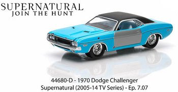 Greenlight Hollywood Series 8 - Supernatural Join The Hunt 1970 Dodge Challenger