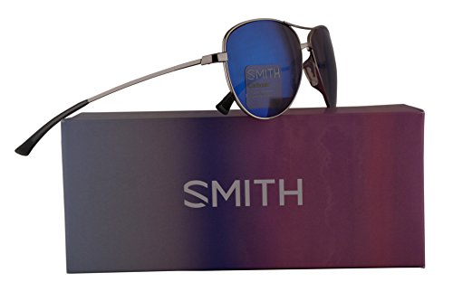 Smith Langley Sunglasses Silver w/Carbonic Blue Mirror Lens 60mm 0DN - Sunglasses Dolen Smith