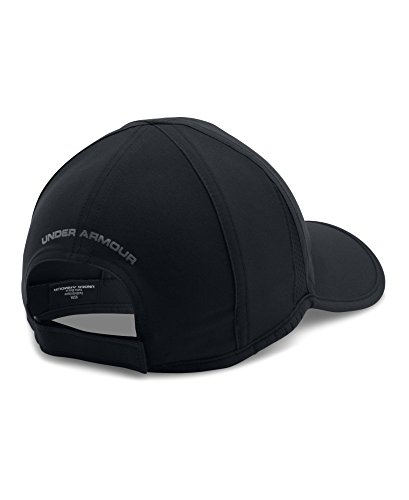 Under Armour Men's Shadow 4.0 Run Cap, Black/Black, One Size
