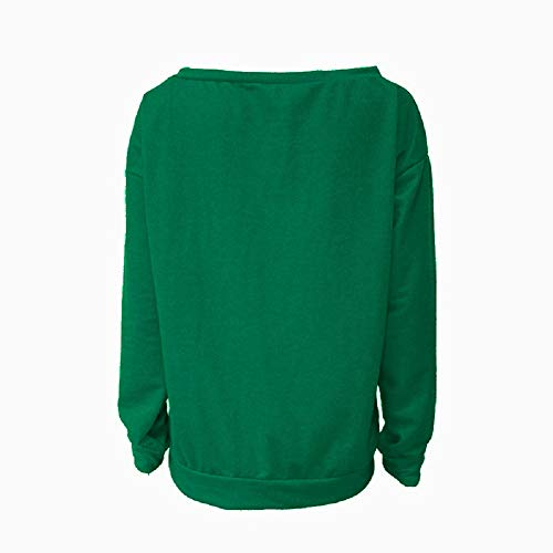 Aibayleef Imprimé Rond 01 Tops Pull Haut Blouse Col Hiver Autumn shirt Longue À Vert Pullover Blazer Femme O Manche cou Casual Tunique T Grande Taille r6Sqxzw4Fr
