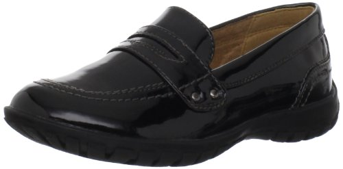 Hush Puppies Salem Penny Moccasin,Black Patent,7 MW US - Penny Loafers For Girls