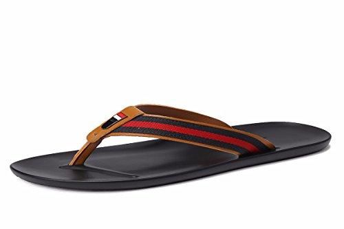 KMJBS-Zapatilla De Moda Verano Zapatos De Playa Fuera De Los Fondos Blandos Zapatillas De Verano Al Aire Libre para Los Hombres.Treinta Y Nueve Brown Thirty-nine|brown