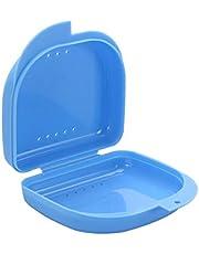 EXCEART Retainer Case Orthodontische Tandheelkundige Retainer Box Met Ventilatie Gaten Voor Orthodontische Invisalign Gebitsbeschermer Prothese Opslag Container Blauw