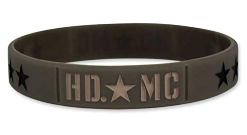 Harley-Davidson Debossed Military Star Silicone Wristband, Olive Green WB34353 (2009 Harley Davidson Heritage Softail Classic Owners Manual)
