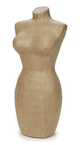 (Darice®Paper Mache Large Display Mannequin - 17 inches)