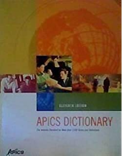 Apics Dictionary 13th Edition Pdf
