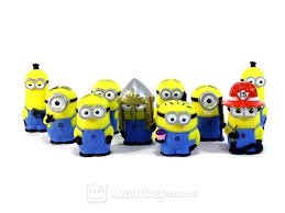 Despicable Me Minions Movie Figure Puppet Set of (Minion Figurines)