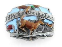 I'd Rather Be Hunting Belt Buckle duck Deer Buck fowl DETAILED!