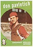 1959 Topps Regular (Baseball) Card# 494 Don Pavletich of the Cincinnati Reds VGX Condition