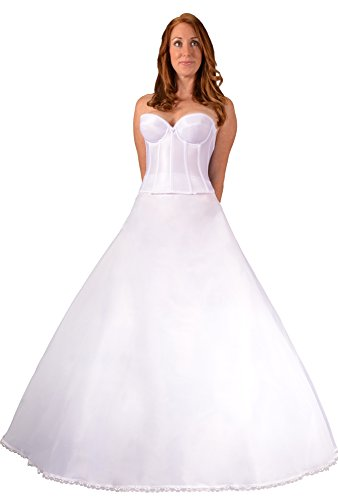 Bridal Dresses Plus Size Petticoat Crinoline Slip for Wedding Dress Ball Gown, Made in USA by Undercover Bridal. Proper Tulle Fullness Makes Optically Smaller Waist and Prevents Costly Hem Alterations. Give Your Dress the Shape it Needs - Buy Now! ()