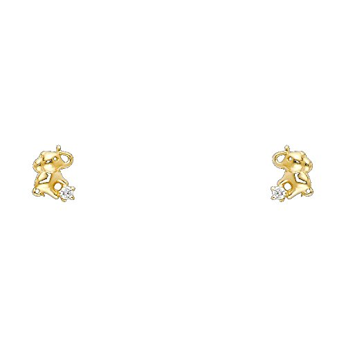 Elephant Gold Earrings - 8