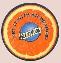 Blue Moon Brewing Company Paperboard Coasters - Set of 4 - Two Different Designs