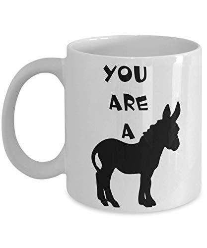 Hilarious Novelty Mug YOU ARE A JACKASS Funny Coffee Cup
