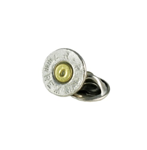 (7mm Magnum Nickel Bullet Tie Tac-Hat Pin)