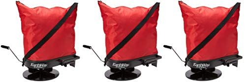 (Earthway 2750 Hand-Operated Nylon Bag Spreader/Seeder, Perfect for Hilly and Wet Terrain, 25 Pounds Capacity, Made in America (Pack of)