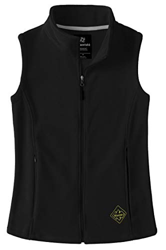 Wantdo Women's Polar Fleece Vest Full Zipper Softshell for Cycling Black S - Fleece Zipper Vest