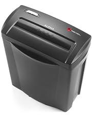 Ahorra en Rexel Alpha 2102023 - Destructora de corte en confeti para casa u oficina pequeña, 5 hojas, papelera de 14 l, color negro y más