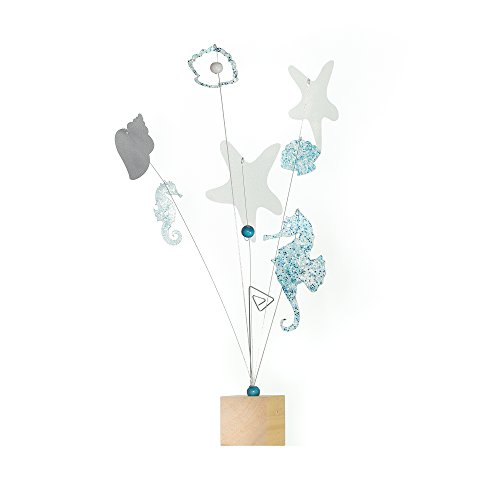 Roser Life Photo Holder Tree Handmade Tabletop Picture Display Blue White Seahorse Starfish Shells Decor (Pack of 1) from Roser Life