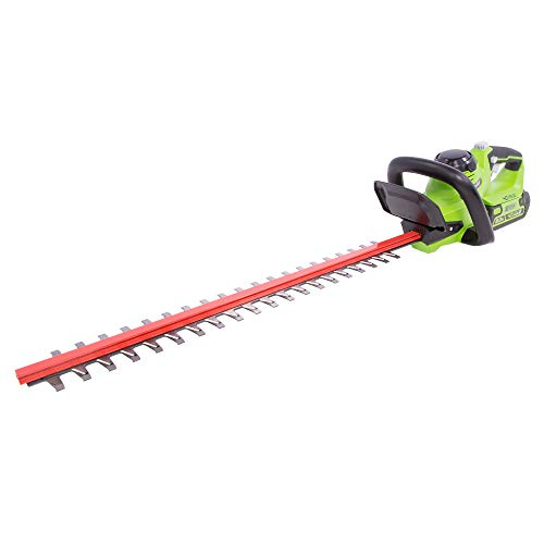 Greenworks HT40B210 24-Inch 40V Cordless Hedge Trimmer, 2Ah Battery