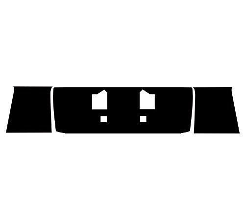 Subject 9 - Fits: Mustang 3 piece deck lid vinyl cover - MATTE BLACK (1999 2000 2001 2002 2003 2004)