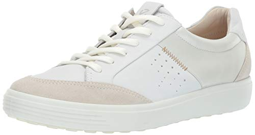 (ECCO Women's Women's Soft 7 Sneaker, Shadow White Leisure, 39 M EU (8-8.5 US))