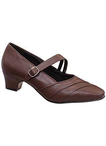 Womens Adult Angel Steps Ashton Dress Pump synthetic Brown y5qdK4Mw5I