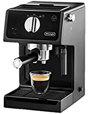 delonghi Espresso and Cappuccino Coffee Machine 1100 Watt with 15 Bar Pressure Automatic Start. Yes External Dimensions (mm): 185x240x305 Maximum Cup Height 90 cm