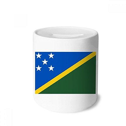 - DIYthinker Solomon Islands National Flag Oceania Country Money Box Saving Banks Ceramic Coin Case Kids Adults
