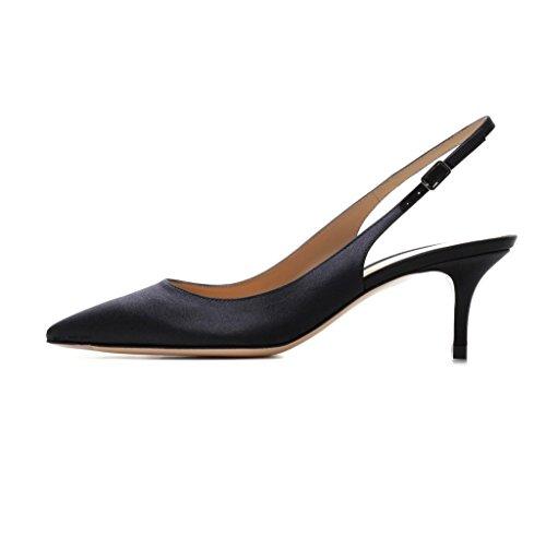 EDEFS - Zapatos con correa de tobillo Mujer BlackSatin