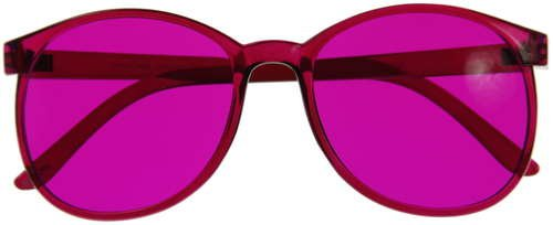 Color Therapy Glasses - Magenta Round Style *Redesigned to be - Chakra Sunglasses