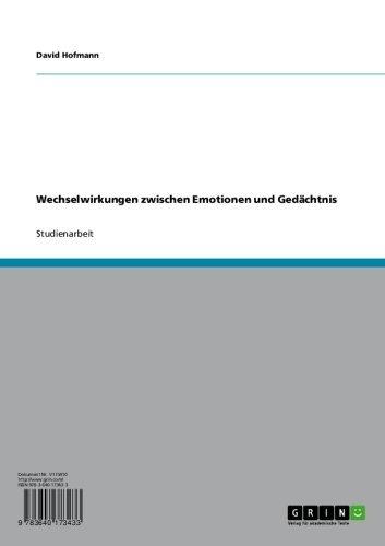 Wechselwirkungen zwischen Emotionen und Gedächtnis (German Edition)