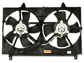 TYC 621210 Infiniti FX35 Replacement Radiator/Condenser Cooling Fan Assembly