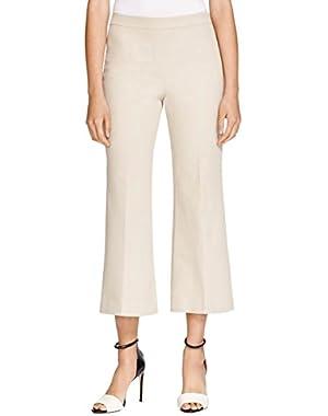 Theory Womens Rabeanie Twill Pull On Khaki Pants