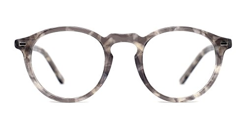 TIJN Vintage Eye-catching Keyhole Horn Rimmed Round Acetate - Sale Eyeglasses For Online