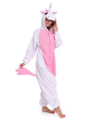 Unicorn One-Piece Pajamas Animal Cosplay Costume Halloween Sleepwear