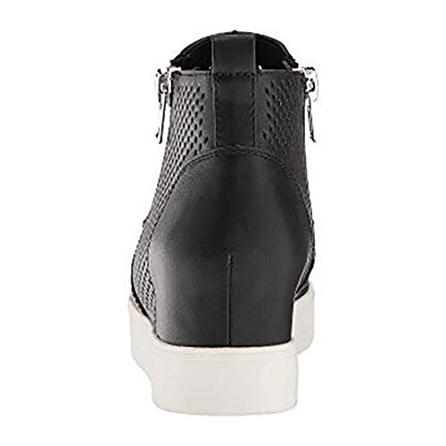 Ankle black Slip 3 Booties Boots Heeled Out Pump Top High Wedge Sneaker on Womens Platform Hollow qw7F11