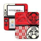 Super Mario White Red Limited Edition VINYL SKIN STICKER DECAL COVER for Nintendo 3DS XL / LL Console System