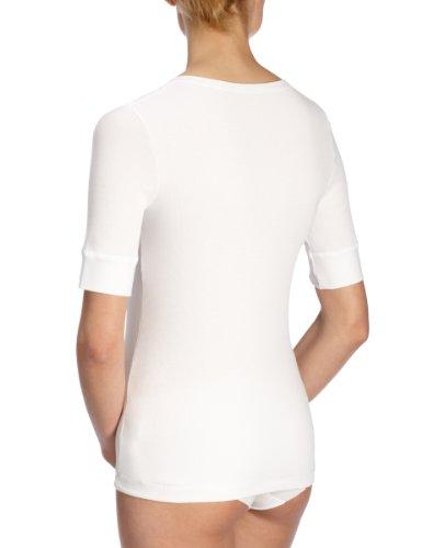 Huber - Maglietta, manica corta, donna, Bianco (Weiß (WEISS 0500)), XXX-Large