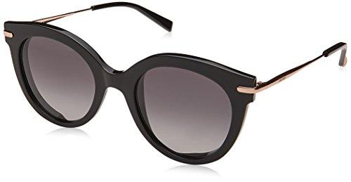 Max Mara Women's Mm Needle Vi Oval Sunglasses, BLK GOLD, 50 ()