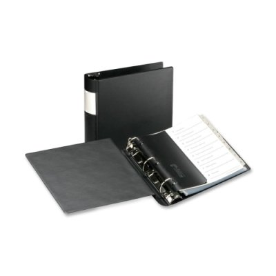 Samsill Corporation Products - D-Ring Binder With Labelholder, 3'' Cap, 11''x8-1/2'', Black - Sold as 1 EA - Patented Flexaround construction prevents top-loading sheet protectors and oversize indexes from extending outside binder. Features locking Angle-D r